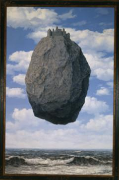 Rene&#039; Magritte, Belgian, 1898-1967<br /> Le Chateau de Pyrenees (The Castle of the Pyrenees), 1959<br /> Oil on canvas, 200 X 145 cm<br /> The Israel Museum, Jerusalem<br /> Gift of Harry Torczyner, New York<br /> B85.0081<br />