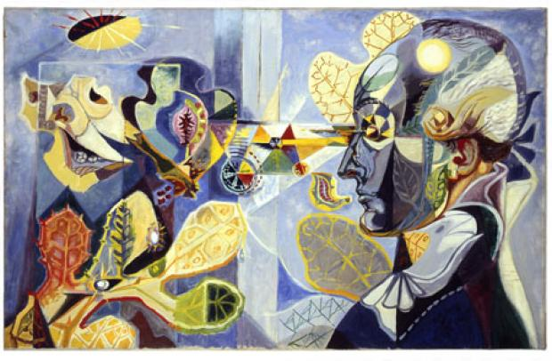 Andre&#039; Masson<br /> Goethe and the Metamorphosis of Plants, 1940<br /> Oil on canvas, 73 X 116<br /> The Israel Museum, Jerusalem<br /> The Vera and Arturo Schwarz Collection of Dada and Surrealist Art<br /> B03.0077